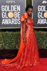 Beautiful Danai Gurira in Rodart at the 2019 Golden Globes / red carpet glamour