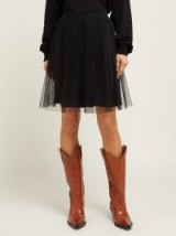 MAISON MARGIELA Pleated black tulle skirt ~ essential feminine style clothing