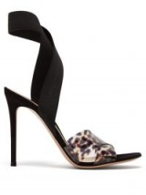 GIANVITO ROSSI Plexi 105 leopard-print sandals ~ PVC animal prints