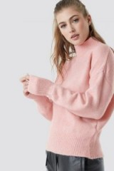 Trendyol Polo Knitted Jumper in Pink | luxe style turtleneck