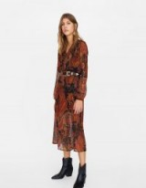 stradivarius printed midi dress Colour: 0-357 – paisley prints