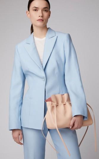 Mansur Gavriel Protea Pink Leather Drawstring Bag | luxe shoulder bags