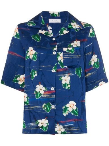 RACIL tony hawaiian shirt in blue / floral shirts