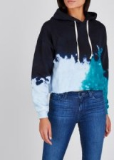 RE/DONE Cropped tie-dye sweatshirt / blue hoodie