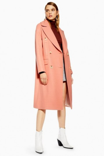 TOPSHOP Relaxed Coat in Apricot – pretty coloured coats