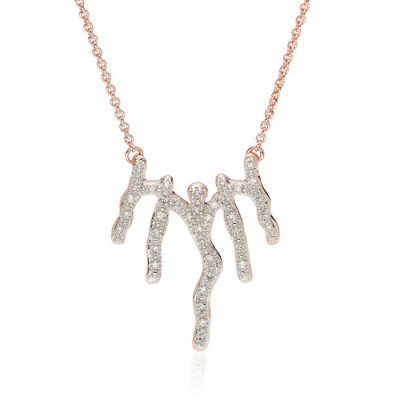 MONICA VINADER Riva Waterfall Diamond Necklace 18ct Rose Gold Vermeil on Sterling Silver | luxe pendant necklaces