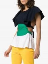 Rosie Assoulin Venn Diagram Cotton Top | colour block tops