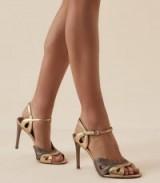 REISS SAVONA METALLIC STRAPPY HIGH HEELED SANDALS ~ luxe style heels