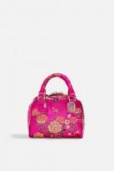 Topshop Shanghai Box Grab Bag in Pink | small floral handbags