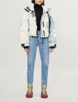 SHOREDITCH SKI CLUB Willow tie-dye denim puffer jacket in wash / dyed padded jackets