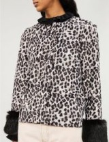 SHRIMPS Aurora faux-fur jacket Greyleoblk. BLACK & GREY ANIMAL PRINTS