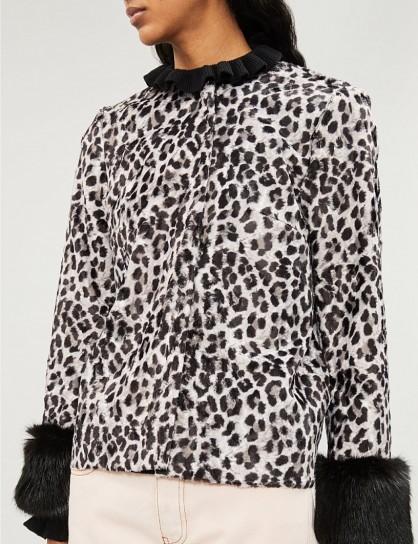 SHRIMPS Aurora faux-fur jacket Greyleoblk. BLACK & GREY ANIMAL PRINTS