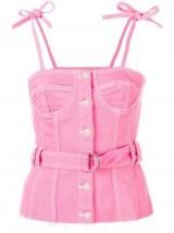 SJYP bustier belted top   pink denim