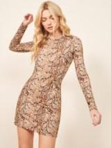 Reformation Smith Dress in Mamba | snake print mini