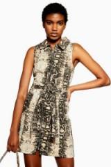 Topshop Snake Denim Dress with Collar | reptile print fashion