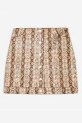 Topshop Snake Popper PU Mini Skirt   reptile prints