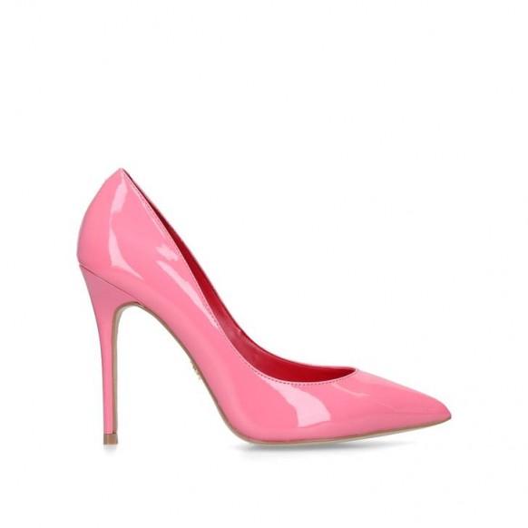 KURT GEIGER LONDON SOHO Pink Patent Stiletto Heeled Court Shoes ~ glossy courts