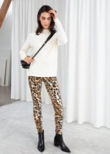 STORIES Stretch Cotton Cheetah Leggings. WILD ANIMAL PRINTS IN FASHION