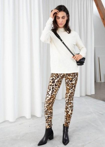 STORIES Stretch Cotton Cheetah Leggings. WILD ANIMAL PRINTS IN FASHION - flipped