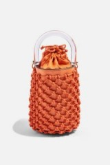 Topshop String Bucket Bag in Orange | small crossbody
