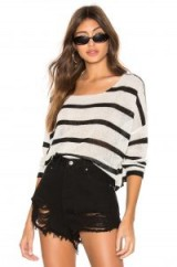 superdown Adriana Knit Sweater in Black and White | striped monochrome jumper | slouchy knitwear