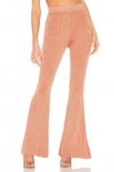 superdown Aviana Knit Pant in Rose Gold | metallic knitwear