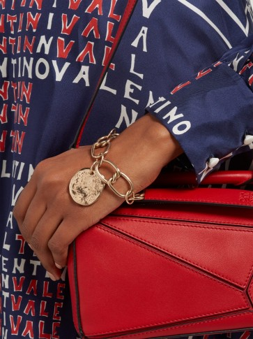 SONIA BOYAJIAN Taylor gold-plated charm bracelet ~ style statement accessory