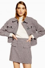 TOPSHOP Textured Boucle Suit – tweed skirt and jacket suits