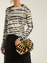 PROENZA SCHOULER Tie-dye velvet clutch in yellow