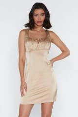 NASTY GAL Tonight Ruched Mini Dress in champagne – LUXE STYLE GOING OUT DRESSES