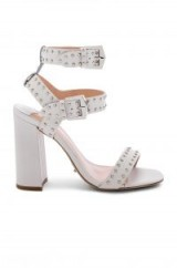 Tony Bianco Dasha Sandal in White Capretto ~ strappy stud embellished chunky sandals