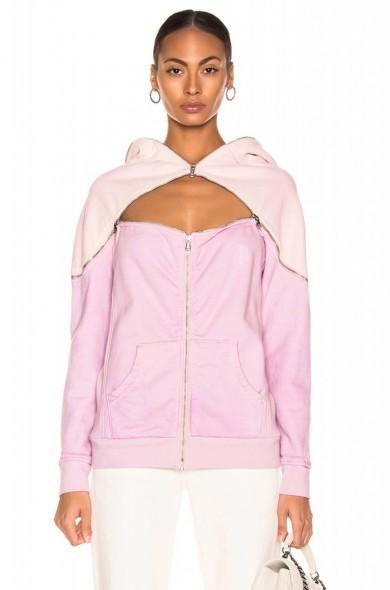 TRE BY NATALIE RATABESI Aaliyah Hoodie in lilac ~ cut-out hoodies ~ multi style top