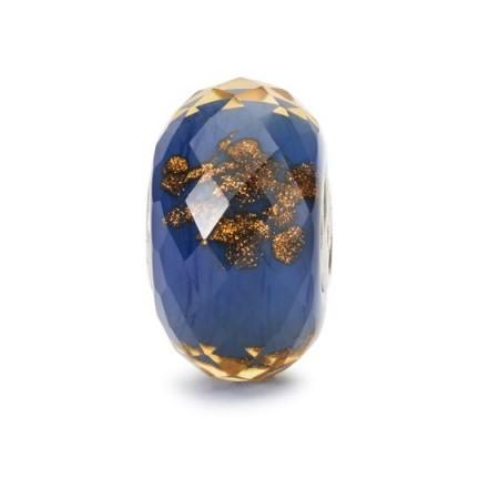 TROLLBEADS Blue Twinkle Bead | coloured glass beads | bracelet accessories