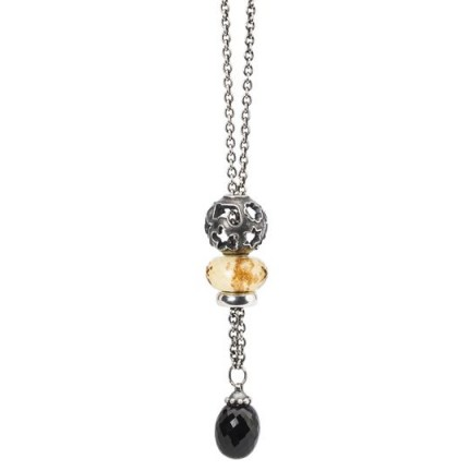 TROLLBEADS Holiday Spirits Necklace   glass & gemstone beaded jewellery