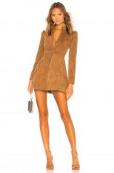 Tularosa Noah Corduroy Dress in Toffee – brown cord fit and flare – 70s style dresses