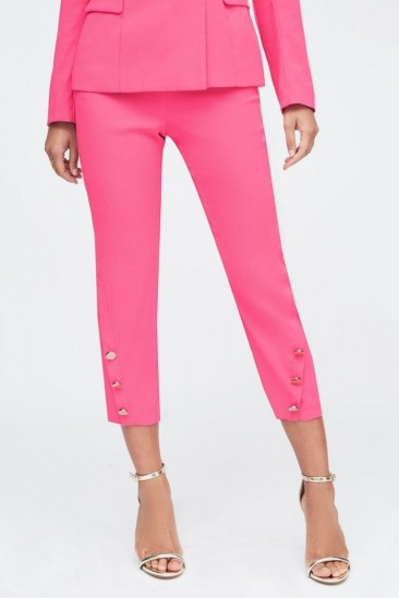 Lavish Alice tux trouser in pink | cropped going out pants