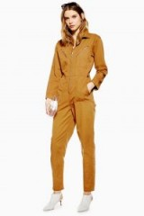 TOPSHOP Utility Boiler Suit in Rust – utilitarian boilersuit