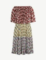 VALENTINO Off-the-shoulder floral print woven dress – multicoloured dresses