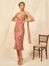 Reformation Venezia Dress in Queen | plunge front occasion dresses | wedding guest outfit