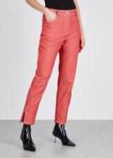 VIVETTA Monfalcone red slim-leg jeans ~ split hems