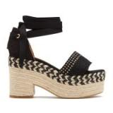 Castañer XIA HEELS in Negro | black Spanish summer heels