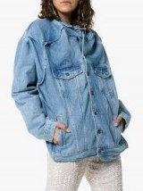 Y / Project Distorted Seams Button Up Denim Jacket ~ blue slouchy jackets