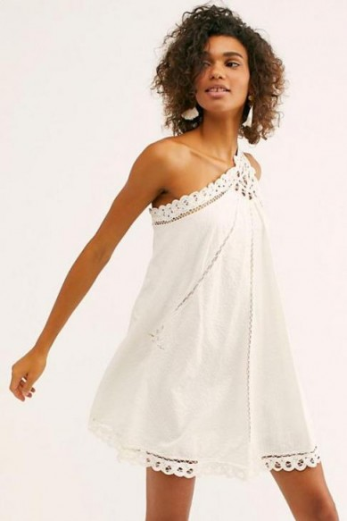 Billie Battenburg One-Shoulder Dress Ivory / boho beach babe