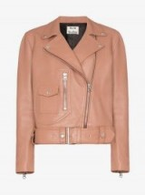 Acne Studios New Merlyn Leather Biker Jacket in Nude-Pink ~ casual luxe