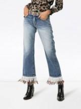 ALANUI fringed beaded boyfriend jeans | western style denim
