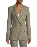 A.L.C. Sedgwick Double-Breasted Houndstooth Blazer / tailored checked jackets