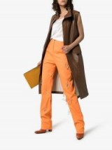 Aleksandre Akhalkatsishvili Crystal Drop High-Waisted Orange Cotton Trousers