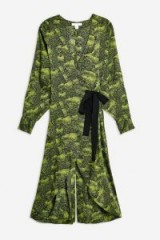 TOPSHOP Alligator Midi Dress by Boutique in Green. ANIMAL PRINT DRESSES