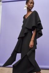SOLACE LONDON Alora Dress Black ~ event gowns