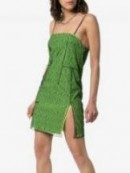 1017 Alyx 9SM Mesh Layered Strappy Mini Dress in Green | side slit cami dresses
